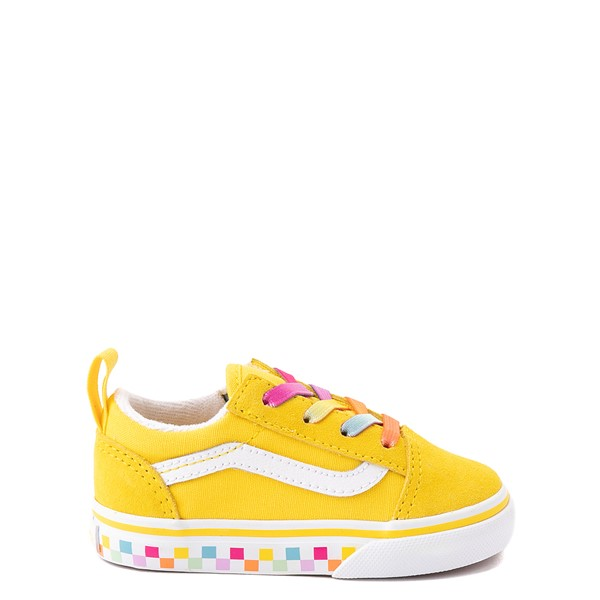 Main view of Vans Old Skool Skate Shoe - Baby / Toddler - Cyber Yellow / Rainbow
