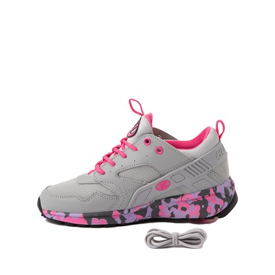 Alternate view of Heelys Force Skate Shoe - Little Kid / Big Kid - Grey / Pink