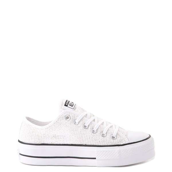 Main view of Womens Converse Chuck Taylor All Star Lo Platform Open Sneaker - White