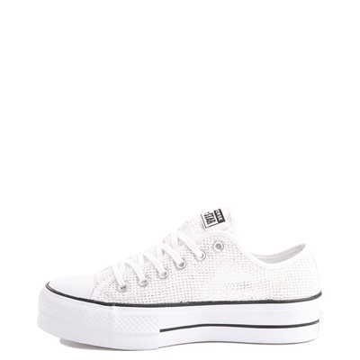 Alternate view of Womens Converse Chuck Taylor All Star Lo Platform Open Sneaker - White