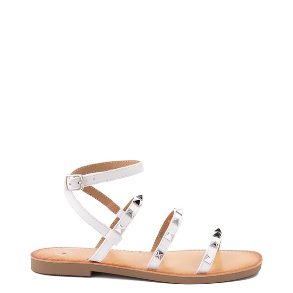 Main view of Womens Heart in D Dance Sandal - White