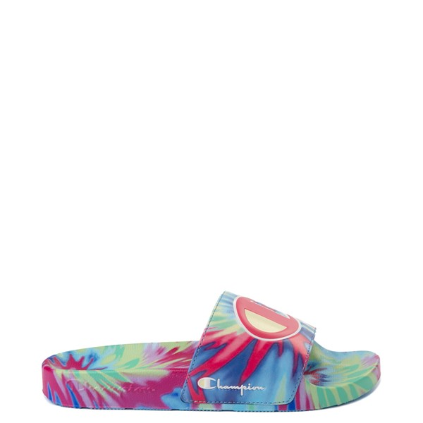 Main view of Womens Champion IPO Warped Slide - Pink Tie Dye