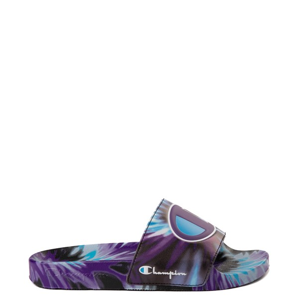 Main view of Womens Champion IPO Warped Slide - Purple Tie Dye