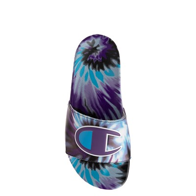 Alternate view of Womens Champion IPO Warped Slide - Purple Tie Dye