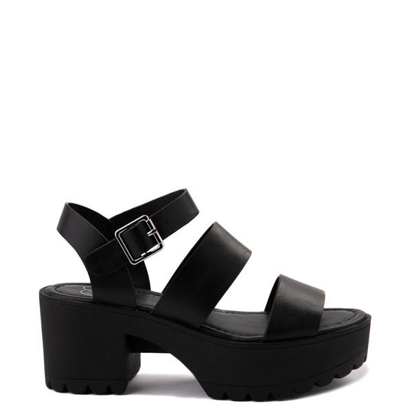 Womens Heart in D Account Platform Sandal - Black
