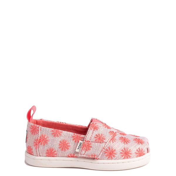 Main view of TOMS Classic Glimmer Slip On Casual Shoe - Baby / Toddler - Coral