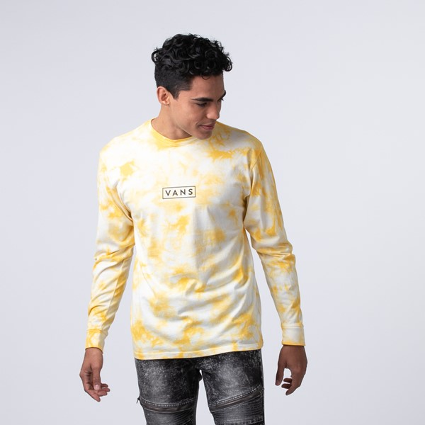 Main view of Mens Vans Easy Box Long Sleeve Tee - Mellow Yellow Tie Dye