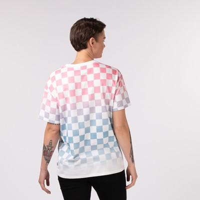 Alternate view of Womens Vans Checkerboard Dip Dye Tee - Pink / Blue