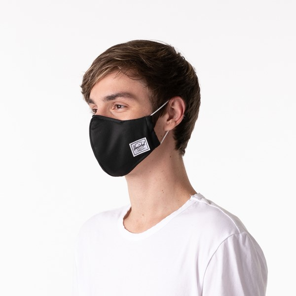 alternate image alternate view Herschel Supply Co. Classic Fitted Face Mask - BlackALT3
