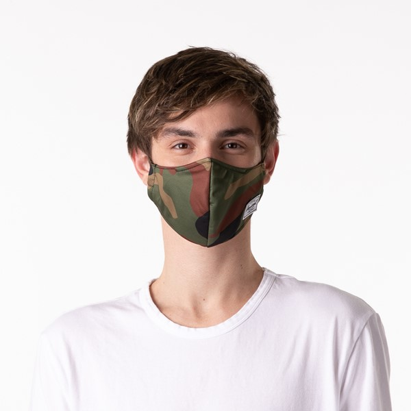 alternate image alternate view Herschel Supply Co. Classic Fitted Face Mask - CamoALT1