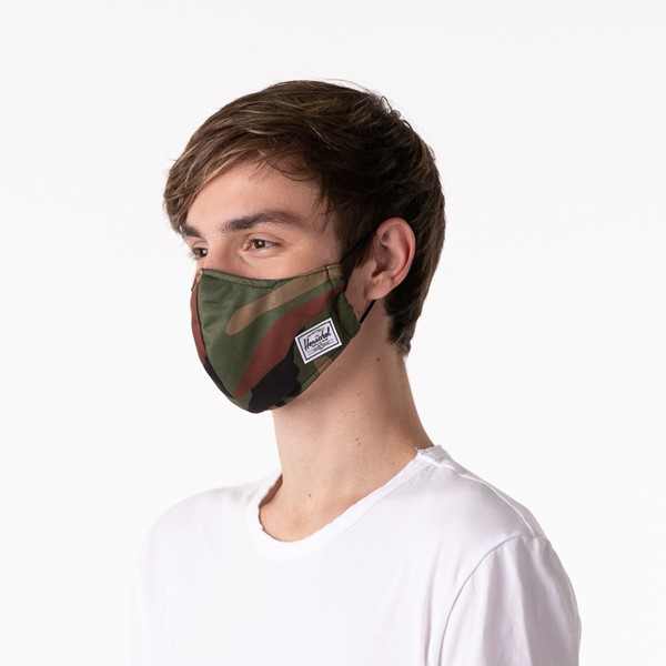 alternate image alternate view Herschel Supply Co. Classic Fitted Face Mask - CamoALT3