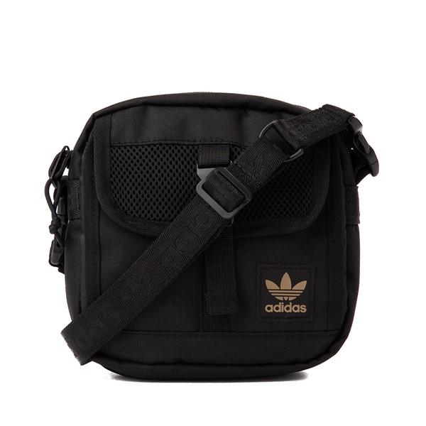 Main view of adidas Originals Large Festival Crossbody Bag - Black / Gold