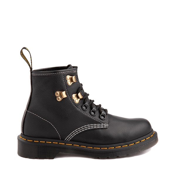 Main view of Womens Dr. Martens 101 6-Eye Hardware Ankle Boot - Black