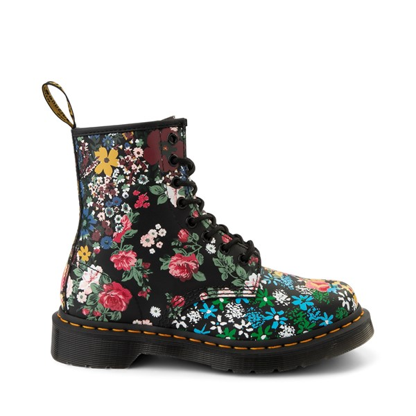 Main view of Dr. Martens 1460 8-Eye Floral Mash Up Boot - Black / Multicolor