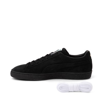 Alternate view of Mens Puma Suede Athletic Shoe - Black Monochrome