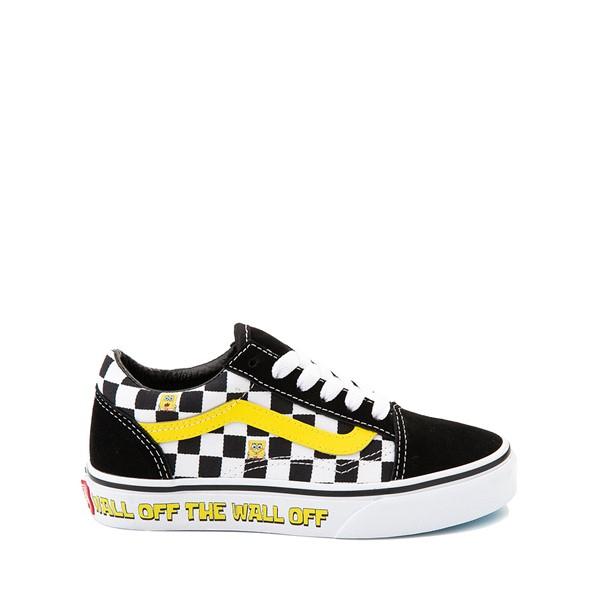 Main view of Vans x SpongeBob SquarePants™ Old Skool Checkerboard Skate Shoe - Little Kid - Black