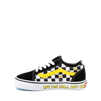 Alternate view of Vans x SpongeBob SquarePants™ Old Skool Checkerboard Skate Shoe - Little Kid - Black