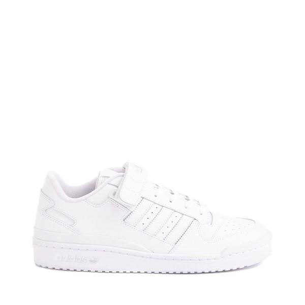 Main view of Mens adidas Forum Low Athletic Shoe - White Monochrome