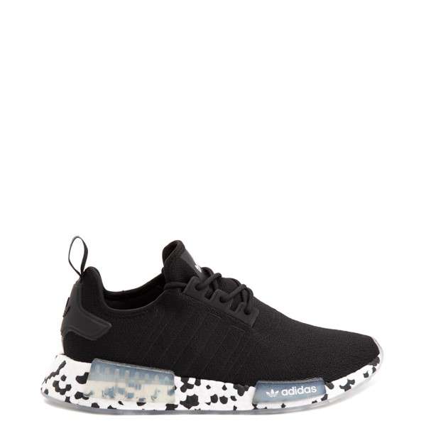Main view of Mens adidas NMD R1 Speckled Boost Athletic Shoe - Black