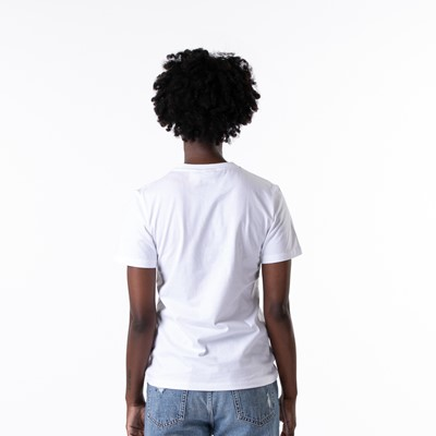 Alternate view of Womens adidas Trefoil Tee - White / Ambient Sky