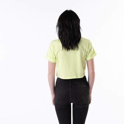 Alternate view of Womens adidas Adicolor Essentials Cropped Tee - Pulse Yellow