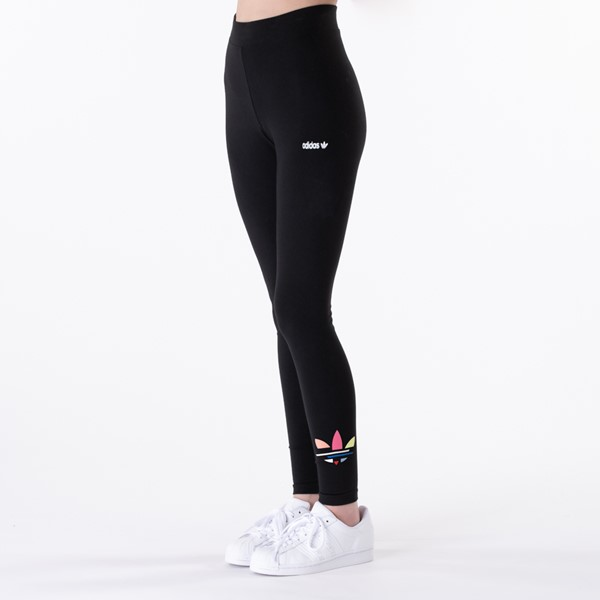Main view of Womens adidas Adi-Color Shattered Trefoil Tights - Black / Multicolor