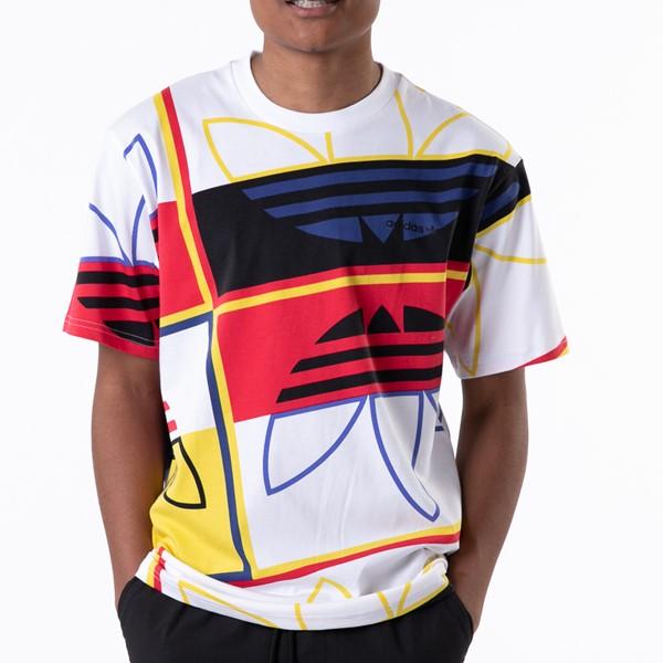 Main view of Mens adidas Originals Logo Play Tee - White / Multicolor