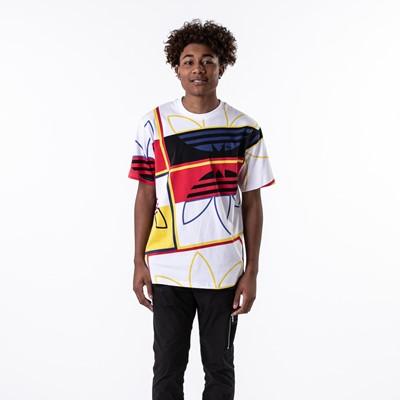 Alternate view of Mens adidas Originals Logo Play Tee - White / Multicolor