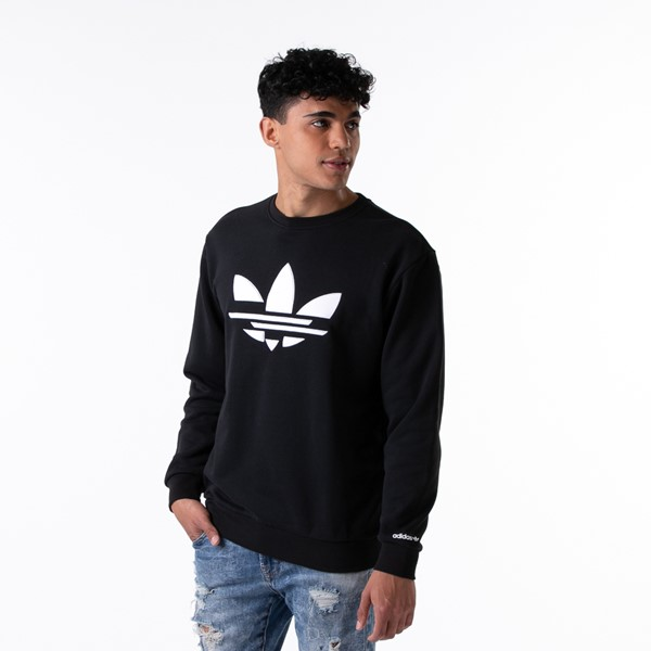 Main view of Mens adidas Adi-Color Shattered Trefoil Sweatshirt - Black