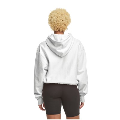 Alternate view of Womens Champion Reverse Weave Cropped Hoodie - White