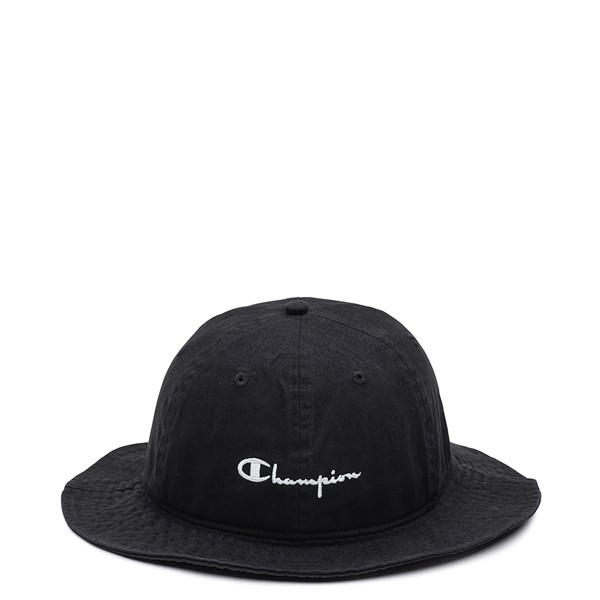 Main view of Champion Script Bucket Hat - Black