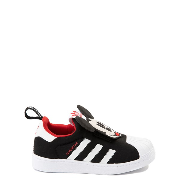 Main view of adidas x Disney Superstar 360 Mickey Mouse Slip On Athletic Shoe - Baby / Toddler - Black