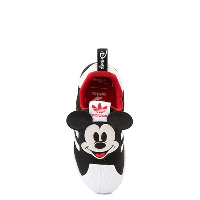 Alternate view of adidas x Disney Superstar 360 Mickey Mouse Slip On Athletic Shoe - Baby / Toddler - Black