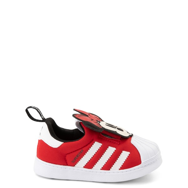 Main view of adidas x Disney Superstar 360 Minnie Mouse Slip On Athletic Shoe - Baby / Toddler - Red
