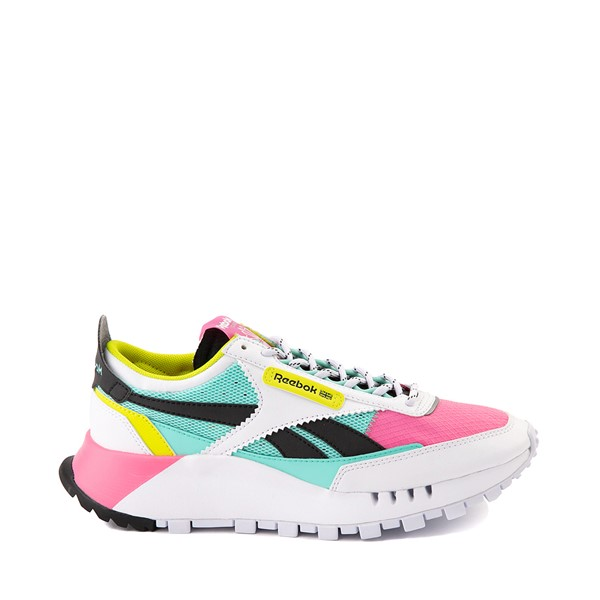 Main view of Womens Reebok Classic Legacy Athletic Shoe - White / Pink / Mint