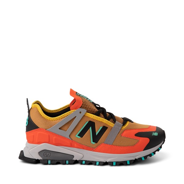 Main view of Mens New Balance X-Racer Athletic Shoe - Tan / Orange