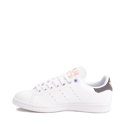 Alternate view of Womens adidas Stan Smith Athletic Shoe - White / Violet Tone / Clear Pink