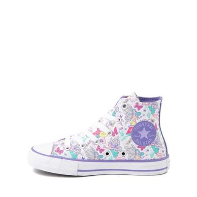 Alternate view of Converse Chuck Taylor All Star Hi Sneaker - Little Kid - White / Fairies