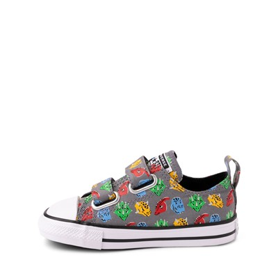 Alternate view of Converse Chuck Taylor All Star 2V Lo Dinos Sneaker - Baby / Toddler - Grey