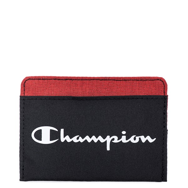 Main view of Champion Camp Card Wallet - Black / Red
