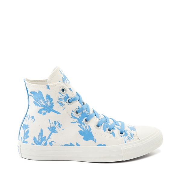 Womens Converse Chuck Taylor All Star Hi Sneaker - Egret / University Blue / Wildflower