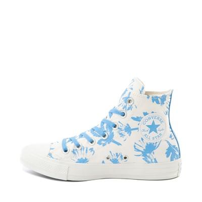 Alternate view of Womens Converse Chuck Taylor All Star Hi Sneaker - Egret / University Blue / Wildflower