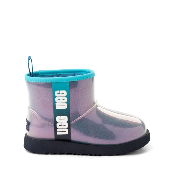 Main view of UGG® Classic Clear Mini II Boot - Toddler / Little Kid / Big Kid - Blue / Multicolor