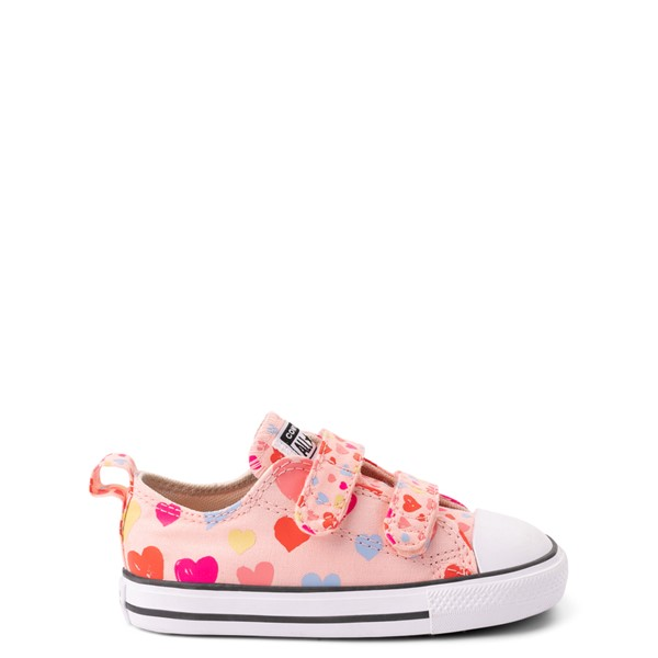 Main view of Converse Chuck Taylor All Star 2V Hearts Lo Sneaker - Baby / Toddler - Storm Pink