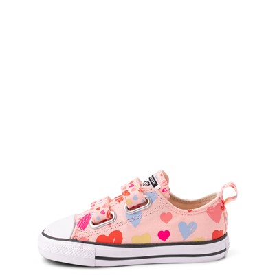 Alternate view of Converse Chuck Taylor All Star 2V Hearts Lo Sneaker - Baby / Toddler - Storm Pink