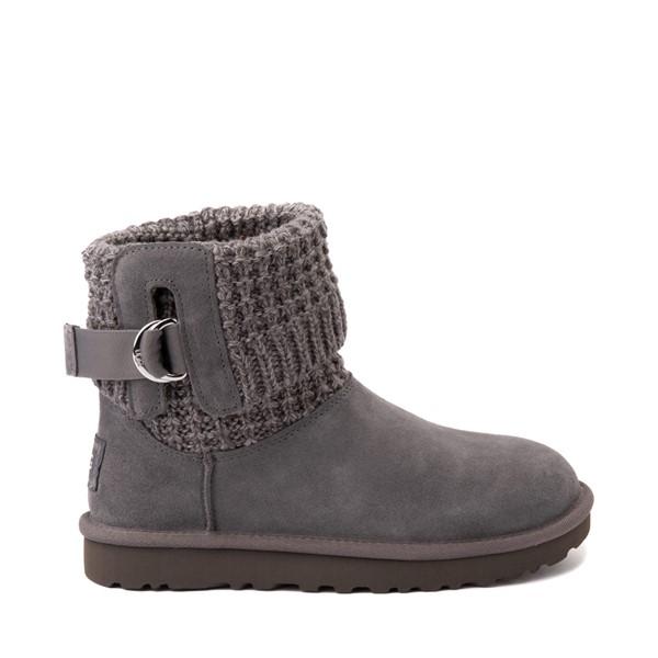 Main view of Womens UGG® Classic Solene Mini Boot - Charcoal