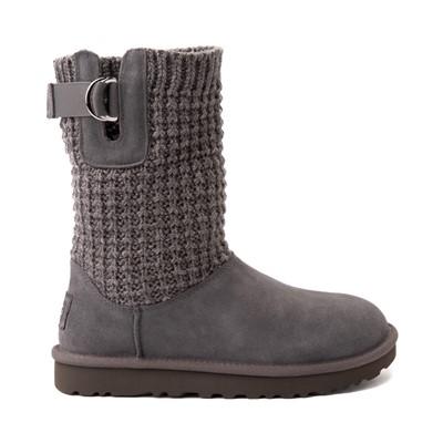 Alternate view of Womens UGG® Classic Solene Mini Boot - Charcoal