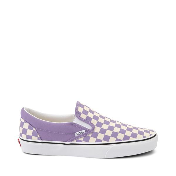 Main view of Vans Slip On Checkerboard Skate Shoe - Chalk Violet