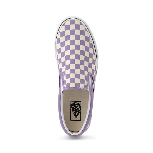 alternate view Vans Slip On Checkerboard Skate Shoe - Chalk VioletALT2