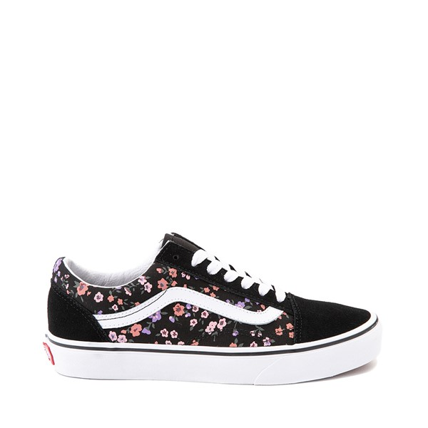 Main view of Vans Old Skool Ditsy Floral Skate Shoe - Black